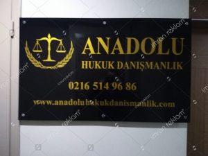 anadolu hukuk danismanlik tabelasi