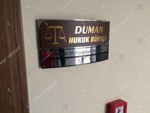 avukatlik burosu kapi isimlik tabelasi