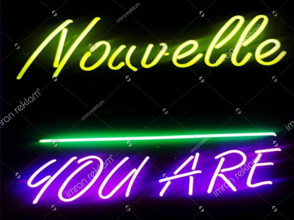 Renkli Neon Yazılar