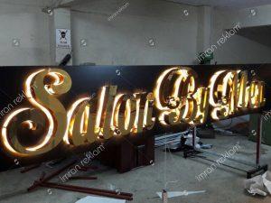 Gold-krom-harfli-isikli-tabela