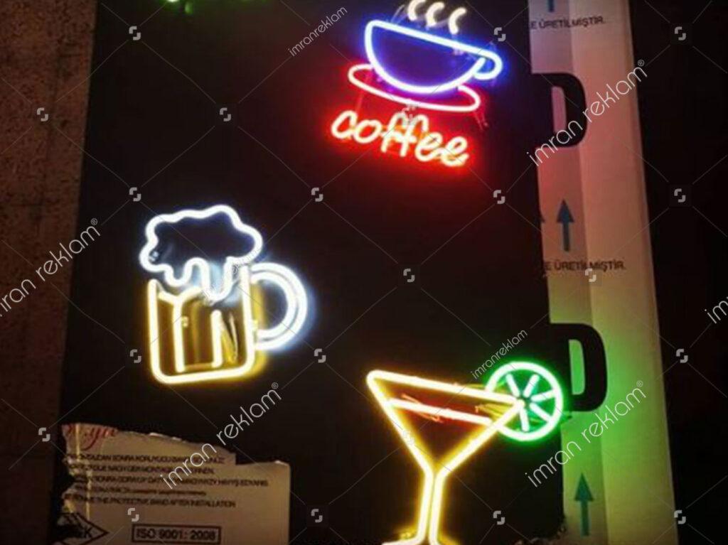 İçecek Şekilli Neon Tabela