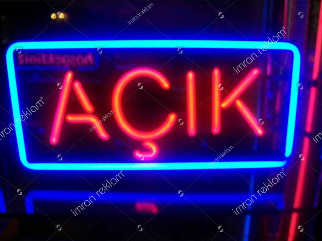 Neon Açık Tabelası