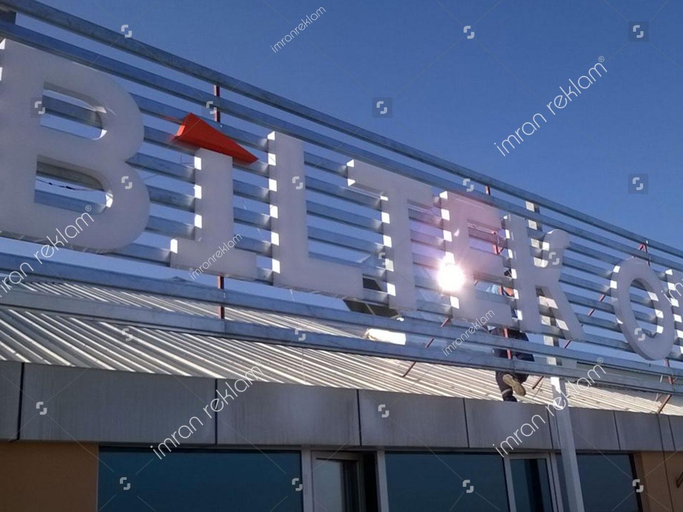 Pleksi Işıklı Çatı Tabelası