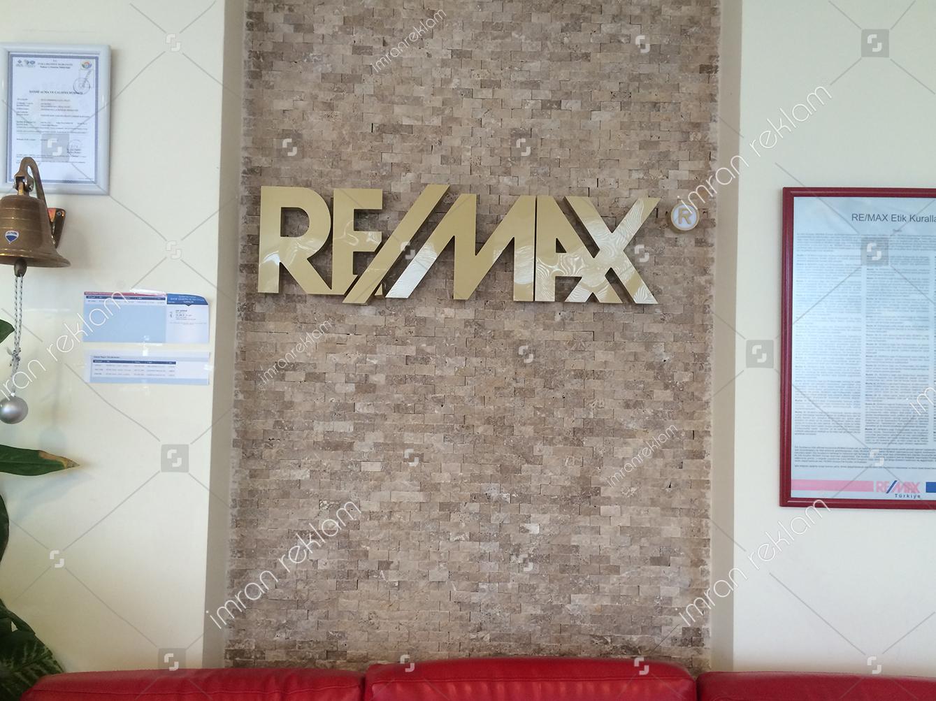 Remax krom kutu harfli banko tabelası