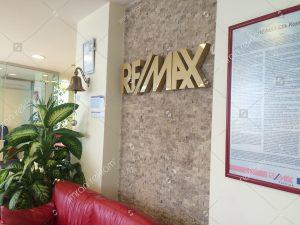 Remax paslanmaz harfli banko tabelası