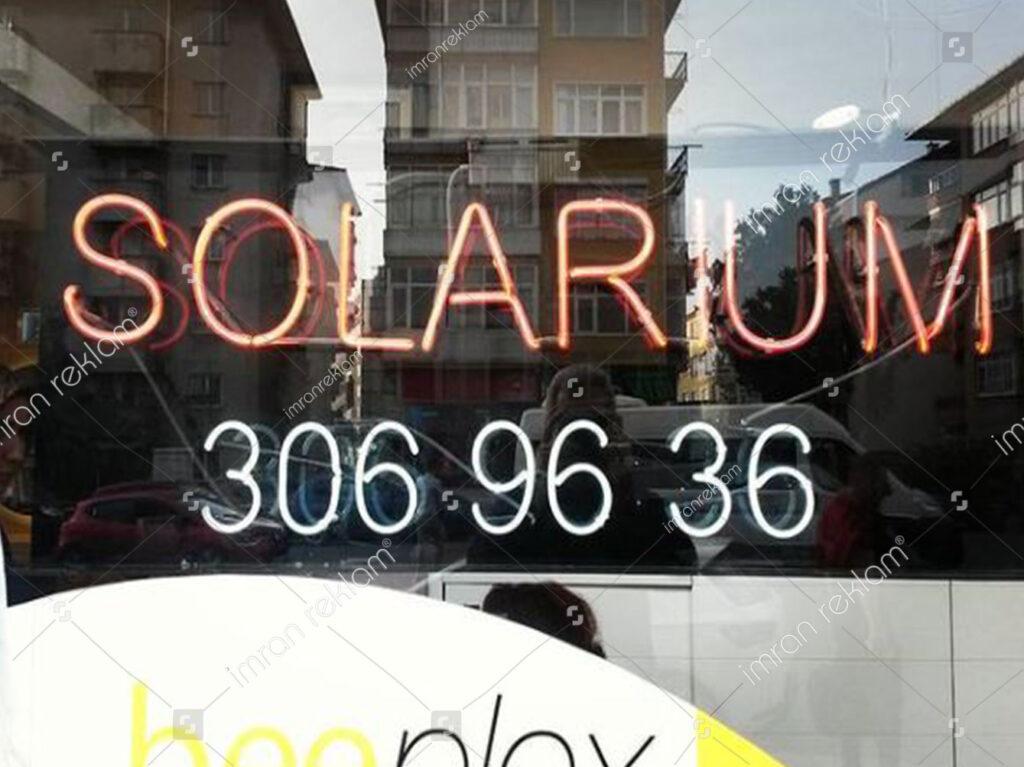 Solarium Neon Tabela