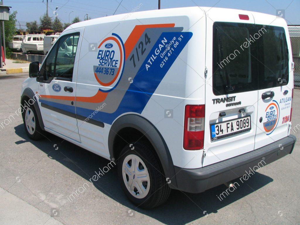 Ford Transit Araç Reklam Giydirme görselleri