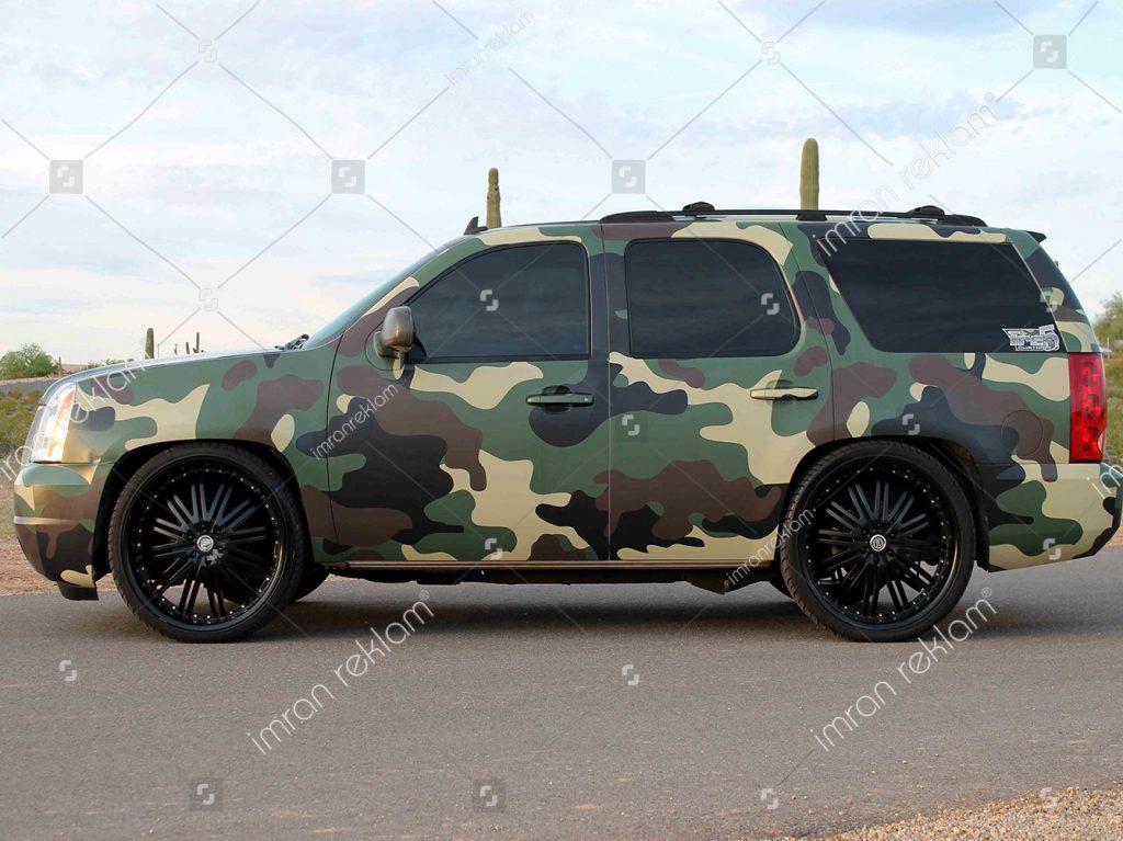 Askeri desen araç renk değişimi