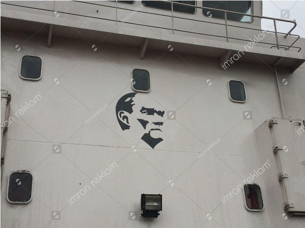 Gemi Atatürk sülieti kaplama