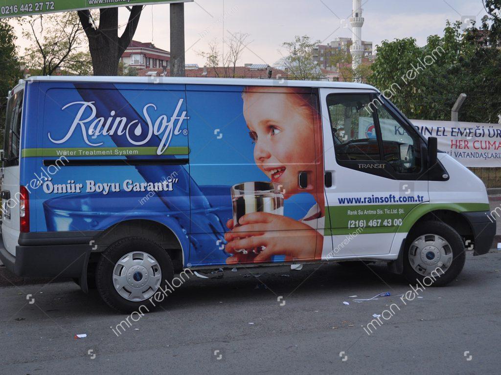 Ford Transit bölgesel reklam kaplama örnekleri