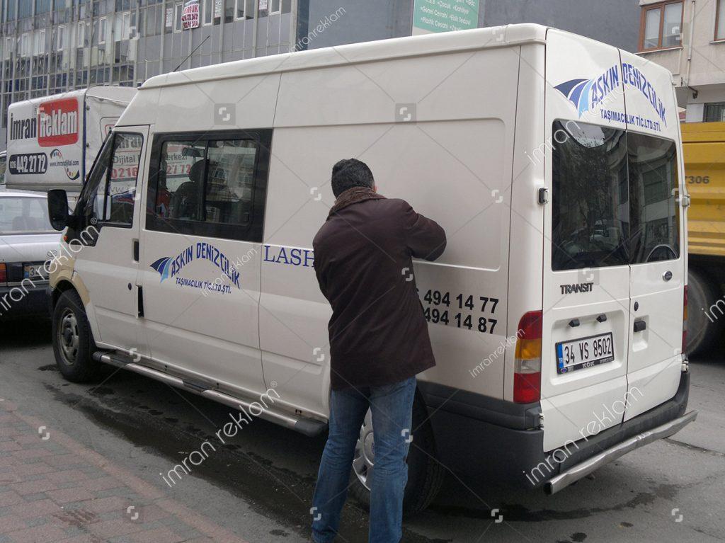 Ford Transit Araç Yazı yapıştırma