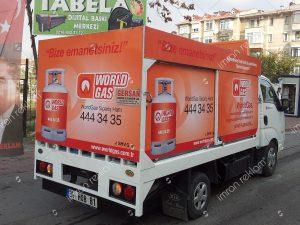Worldgas kamyonet reklam kaplama