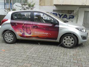 araç kapısı reklam giydirme