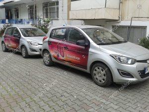 araç kapısı reklam kaplama