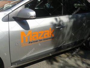 araç kapısı logo giydirme
