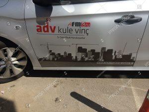 araç kapı yazısı reklam kaplama