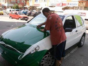 fiat palio kısmi araç giydirme