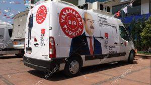 CHP Seçim Aracı Giydirme