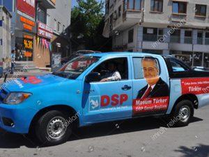 Demokratik Sol Parti Seçim Aracı Giydirme