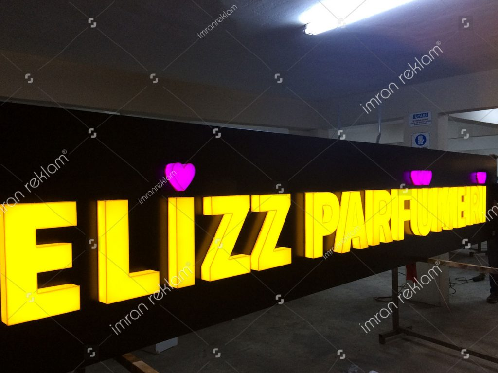 Elizz Parfümeri Kutu Harf Tabelası
