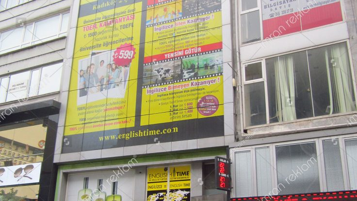 Englishtime Bina Camı Reklam Kaplama