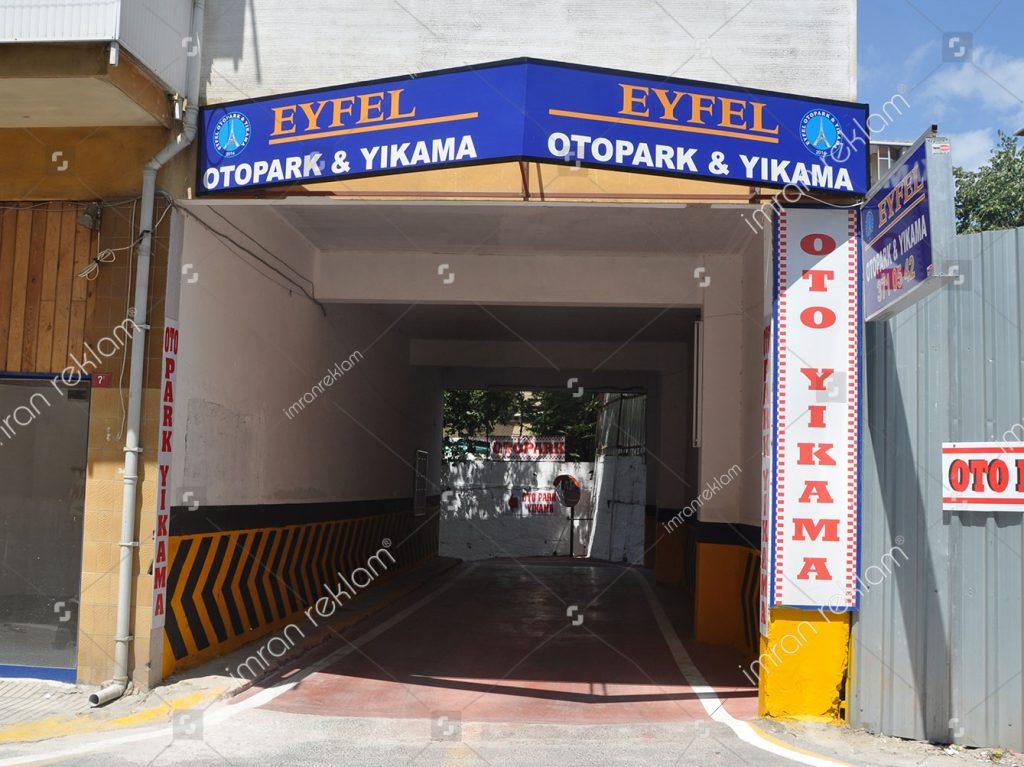 Eyfel Otopark tabelası
