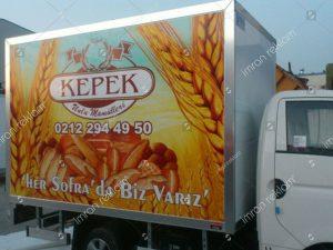 Ekmek Fırını Kamyonet Reklam Kaplama