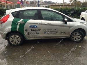 Ford focus kısmi araç giydirme