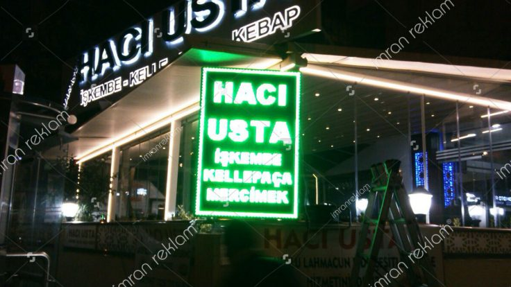 Hacı Usta Kutu Harf Tabela