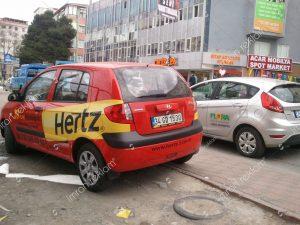 Hyundai getz kısmi araç giydirme modelleri