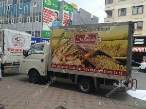 kamyonet kasası reklam giydirme