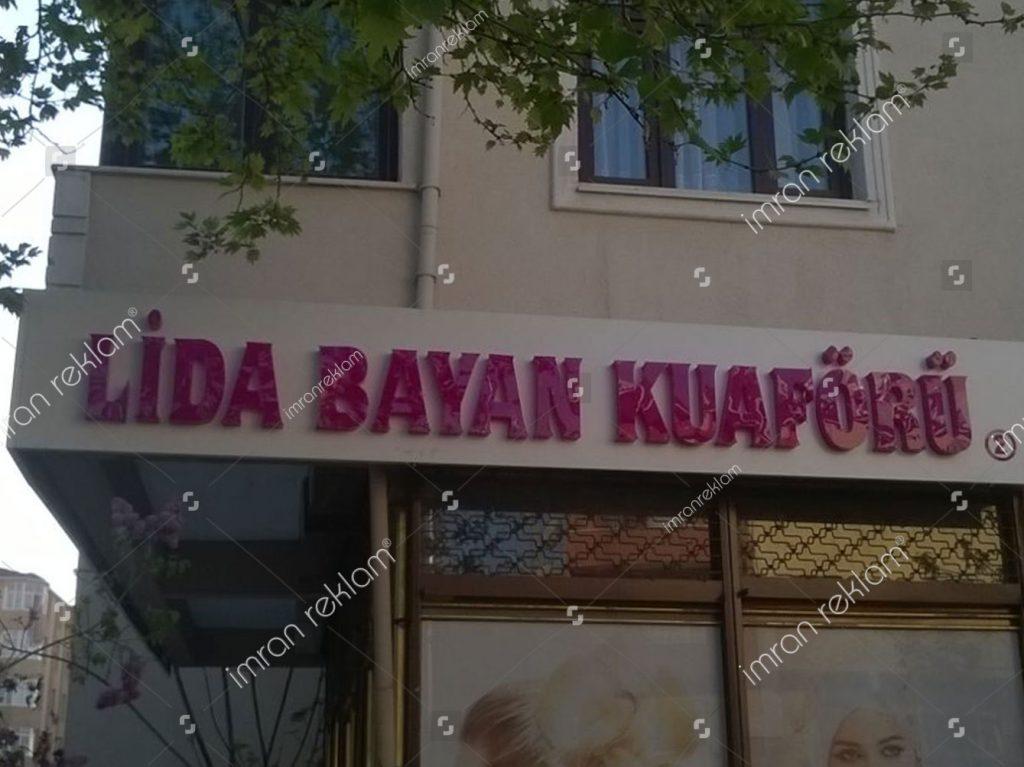 Lida Bayan Kuaforu Kutu Harf