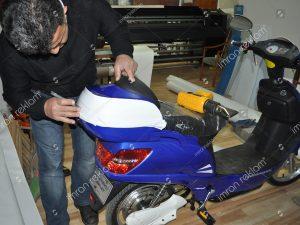 Motorsiklet sepeti giydirme