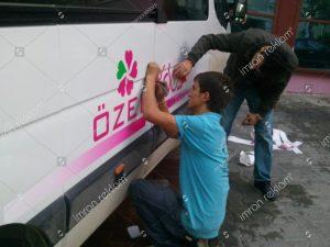 Okul Servis aracı logo giydirme