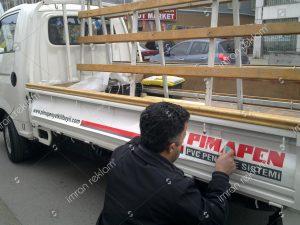 pimapen bayii kamyonet-kasasi reklam yazıları