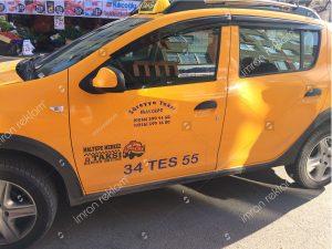 Taksi Kapısı Yazıları