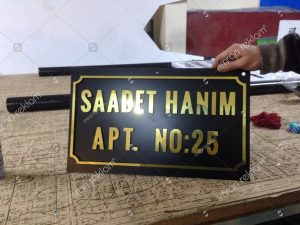Alücor Kesim Harfli bina tabelası