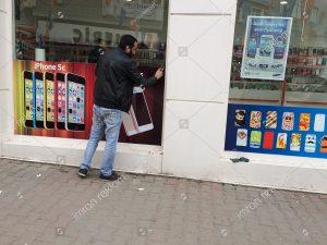 Turkcell mağaza cam giydirme örnekleri