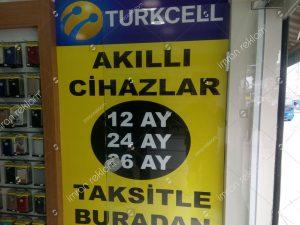 Turkcell mağaza reklam giydirme örnekleri