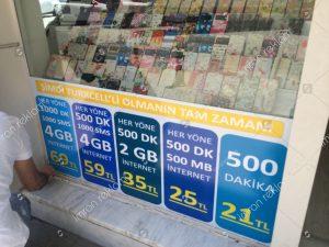 Turkcell mağaza reklam giydirme