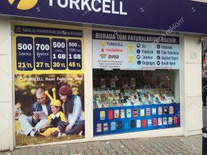 Turkcell mağaza reklam kaplama örnekleri