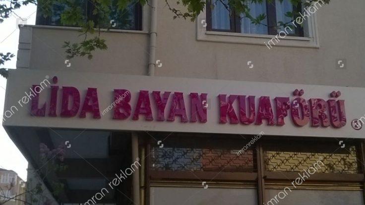 Bayan Kuaförü Kutu Harf Tabela