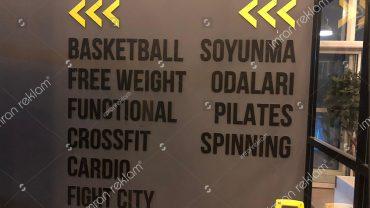 Spor Salonu Yönlendirme Tabelası