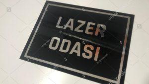 Lazer Odası Kapı Tabelası