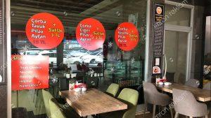 Kafe cam vitrin yazıları