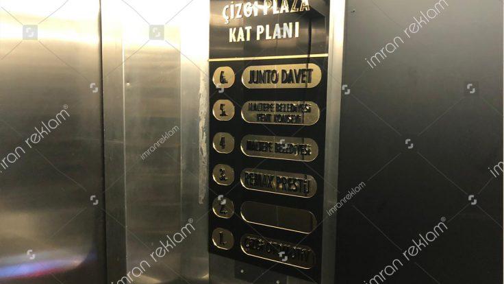 Asansor kat yönlendirme tabelası