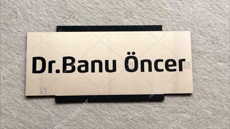 Doktor odası kapı isimlik tabelası