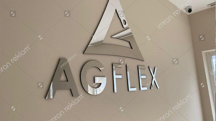 Gümüş alucor kesim harfli tabela