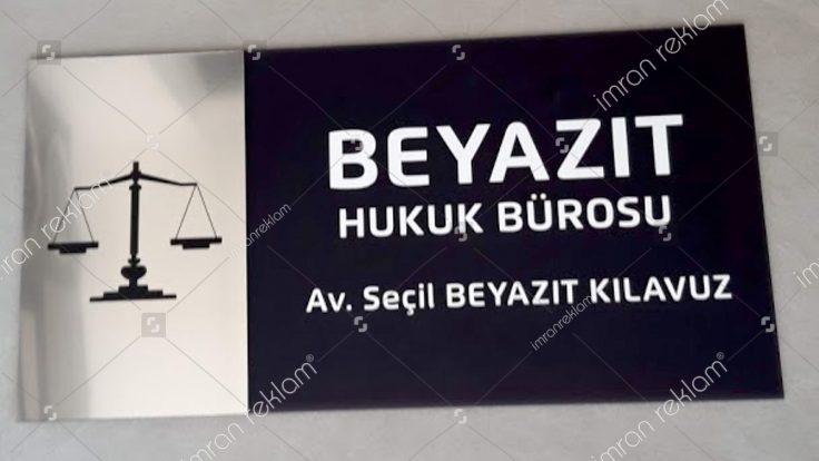 Hukuk bürosu Kapı isimlik tabelası