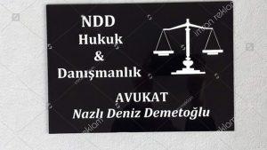 Hukuk & danışmanlık bürosu apartman tabelası